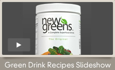 NewGreens is a powerful antioxidant drink mix that contains a blend of chlorella, spirulina, organic barley, organic wheat grass, and 13 vegetables including carrot, spinach, tomato, kale, beets and broccoli.